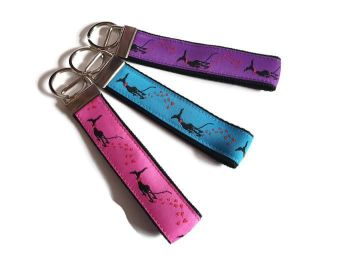 Nelllie Doodles 'Heart Prints' Keyfobs **Made to Order**