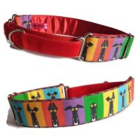 *NEW* Richard Skipworth 'Red Semaphore Ears' Fabric Collars  **Made to Order**