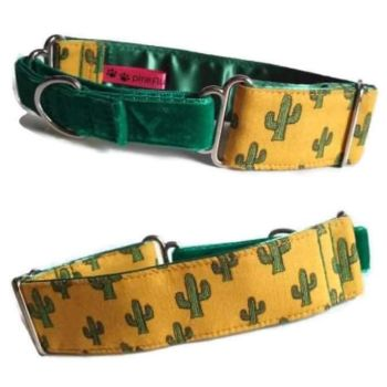 "1.5"" Cactus Whippet Half Martingale Collar"