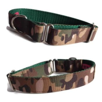 "1"" Double Webbing Camo/ Forest Whippet House Collar"