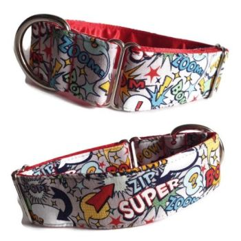 "1.5"" Grey Superhero Whippet House Collar"