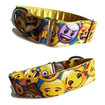 "1.5"" All the Emojis Whippet House Collar"