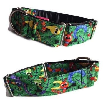 """1.5"""" Snakes Whippet Martingale Collar"""