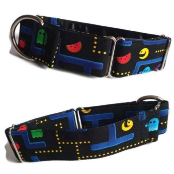 "1.5"" Retro Gamers Whippet Martingale Collar"