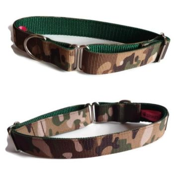 "1"" Double Webbing Camo/Forest Greyhound House Collar"
