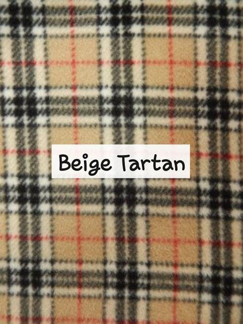 Beige Tartan Fleece