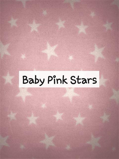 baby pink stars fleece