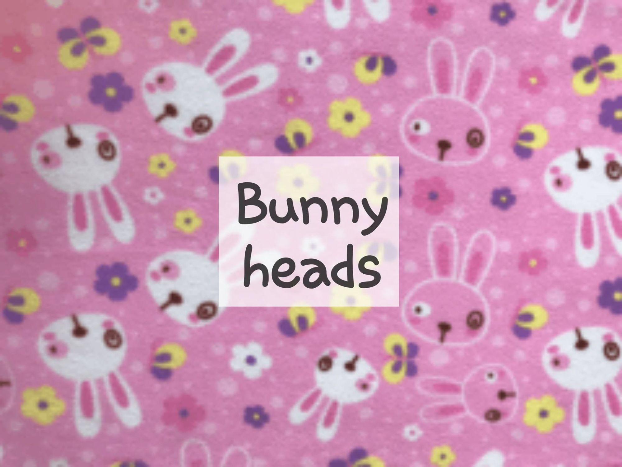 bunny heads fleece