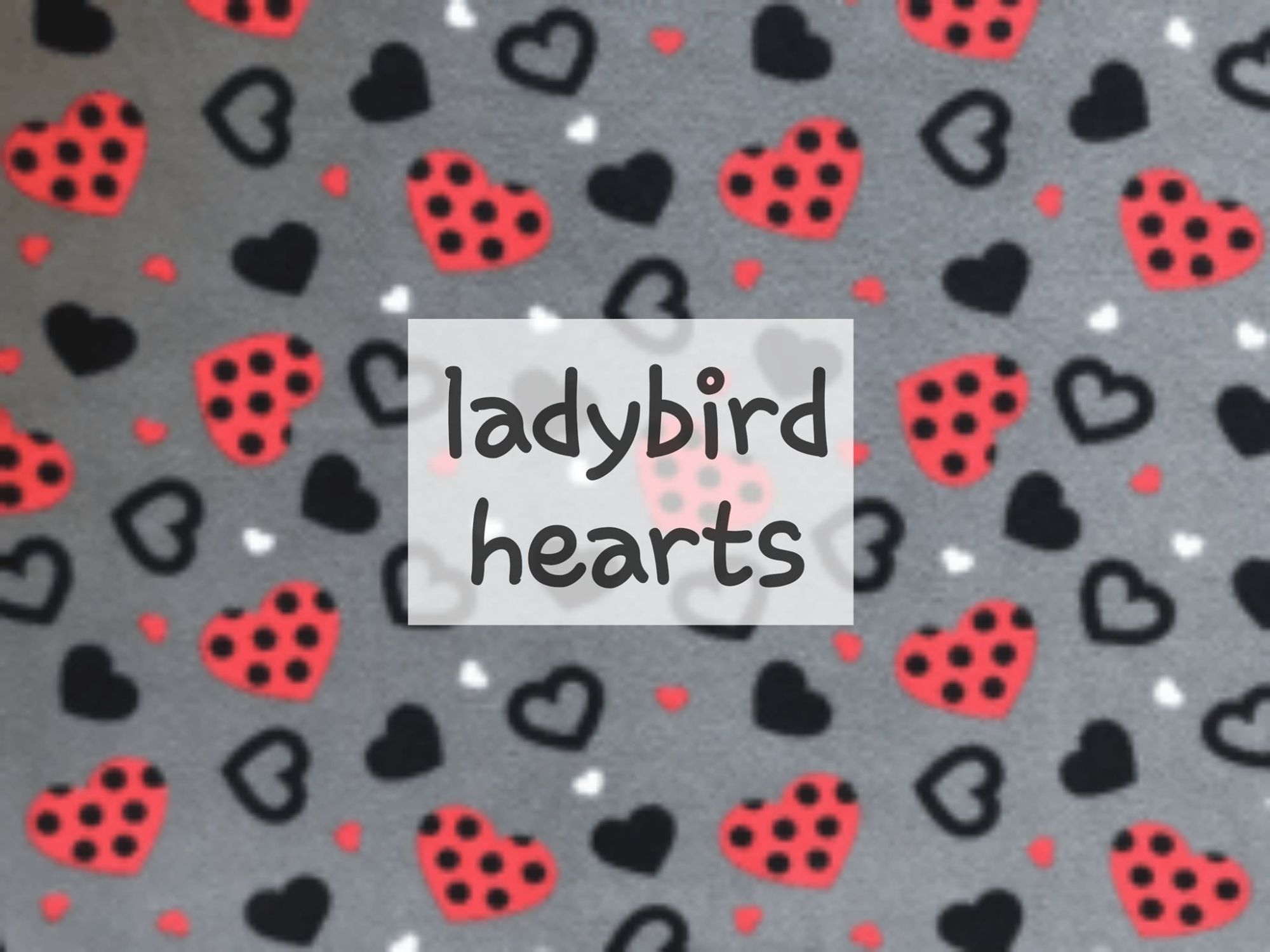 ladybird hearts fleece
