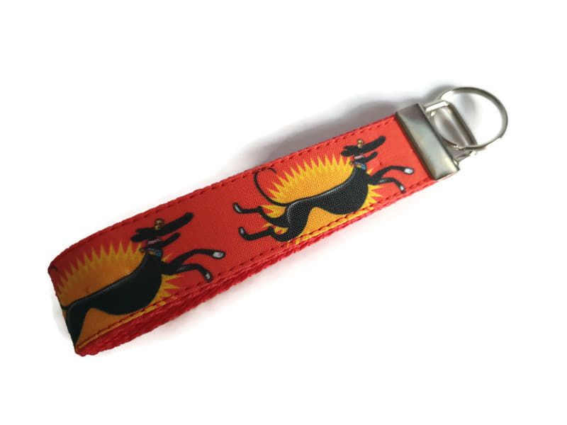 Richard Skipworth Red Zoomies Fabric Keyfobs **Made to Order**