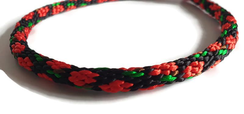Create Your Own - Roses Braided Tag Dog Collar