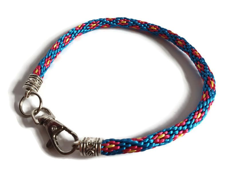 Create Your Own - Flowers Braided Tag Dog Collar