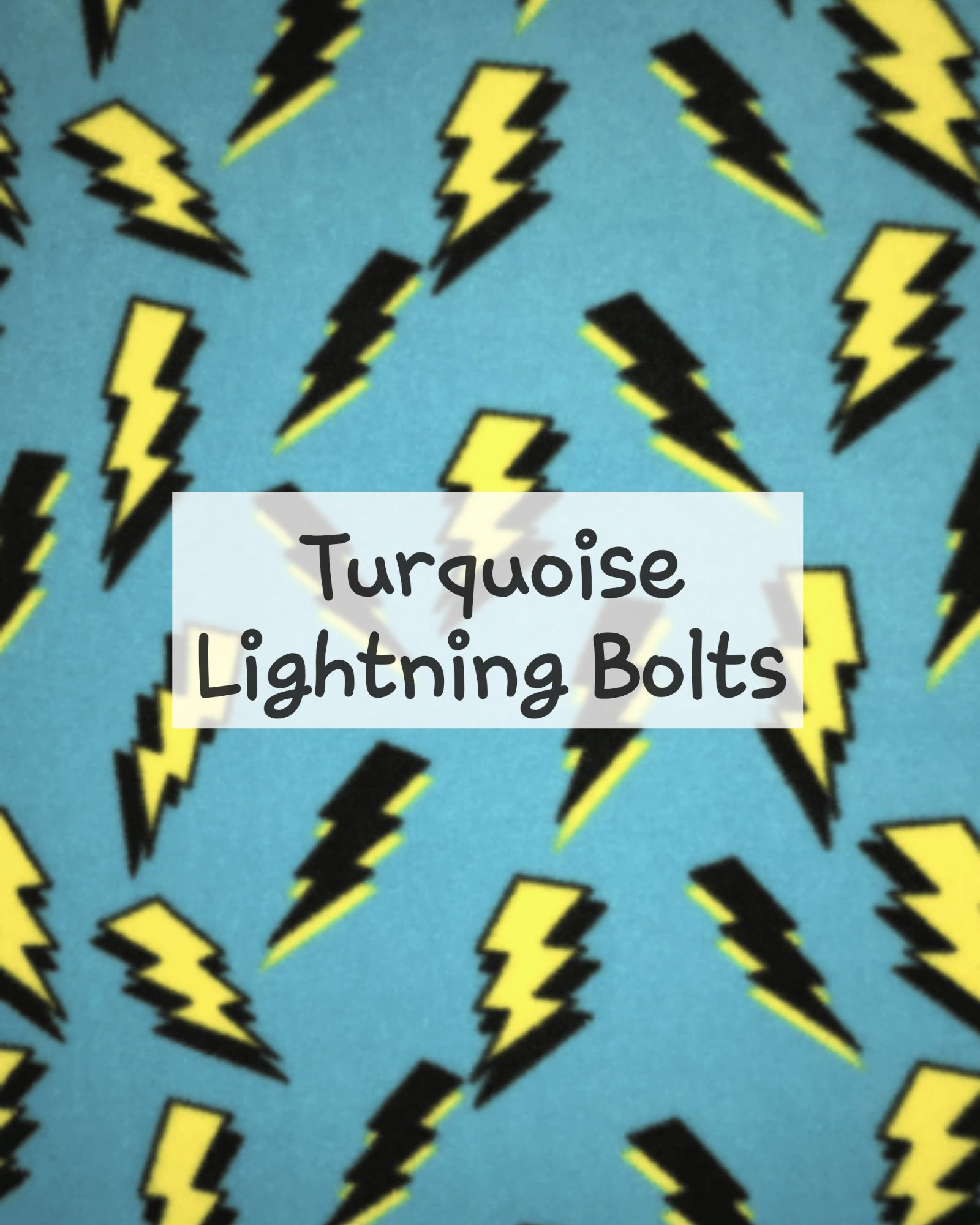 Turquoise Lightning Bolts Fleece