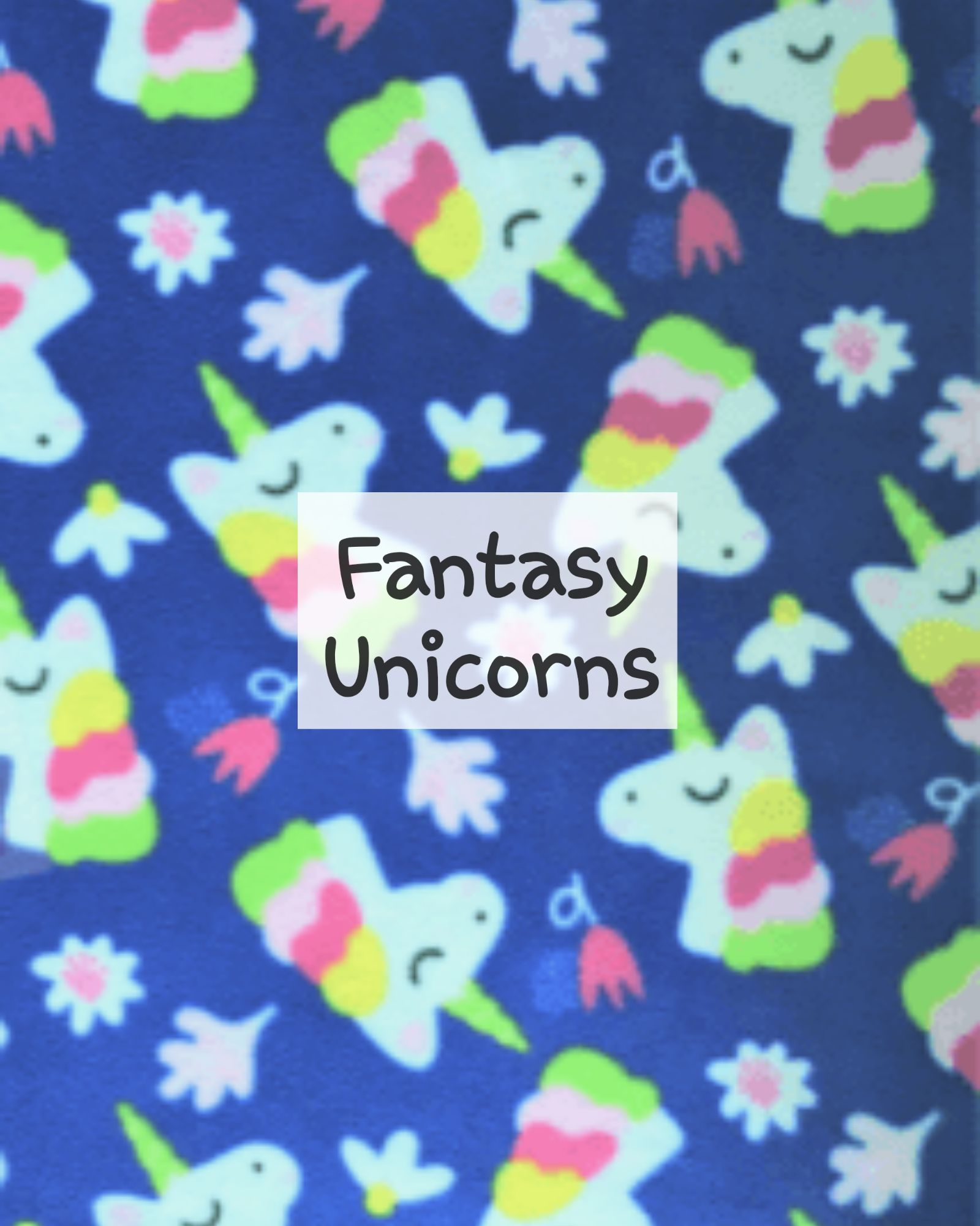Fantasy Unicorns Fleece