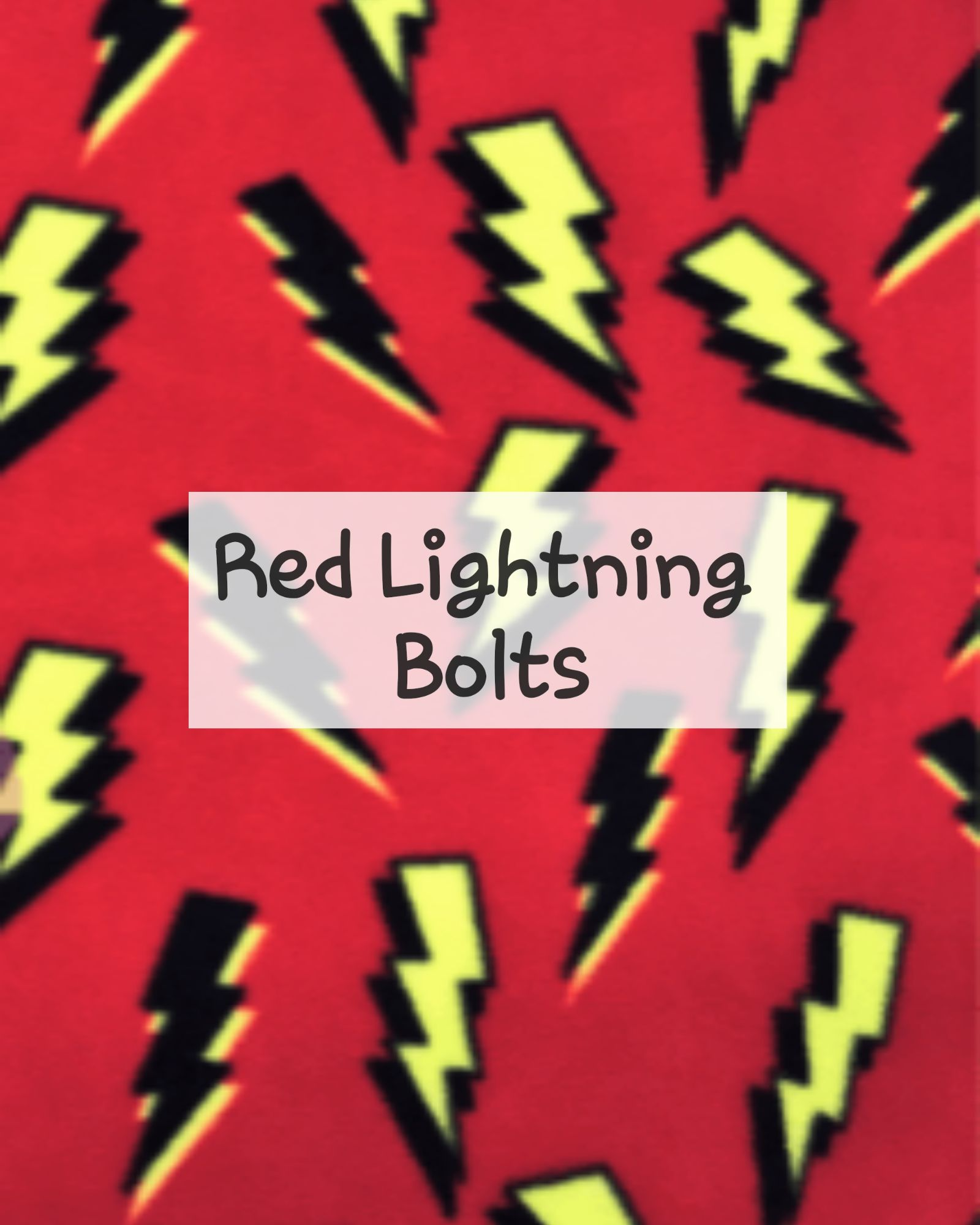 Red Lightning Bolts Fleece