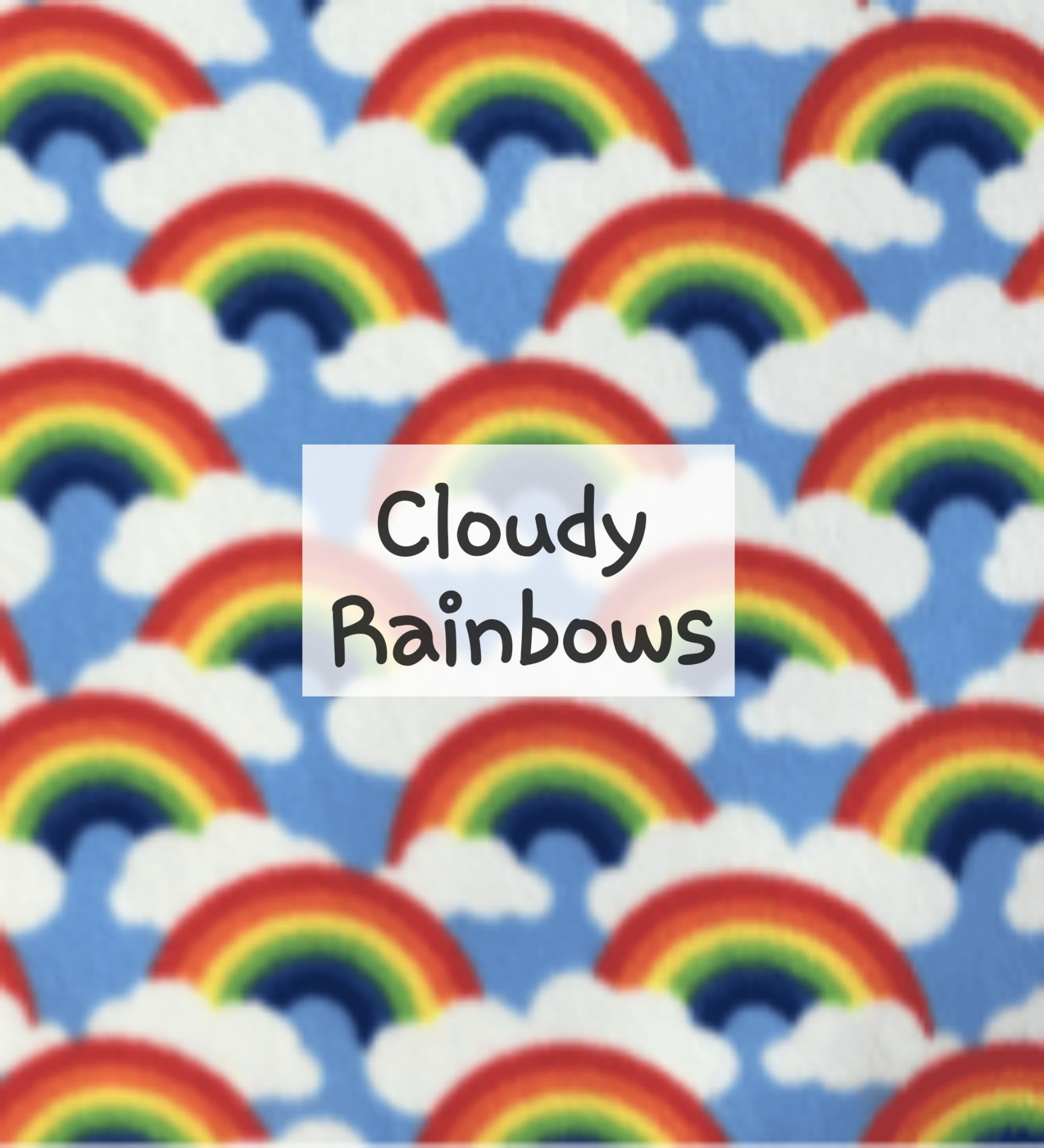 Cloudy Rainbows Fleece