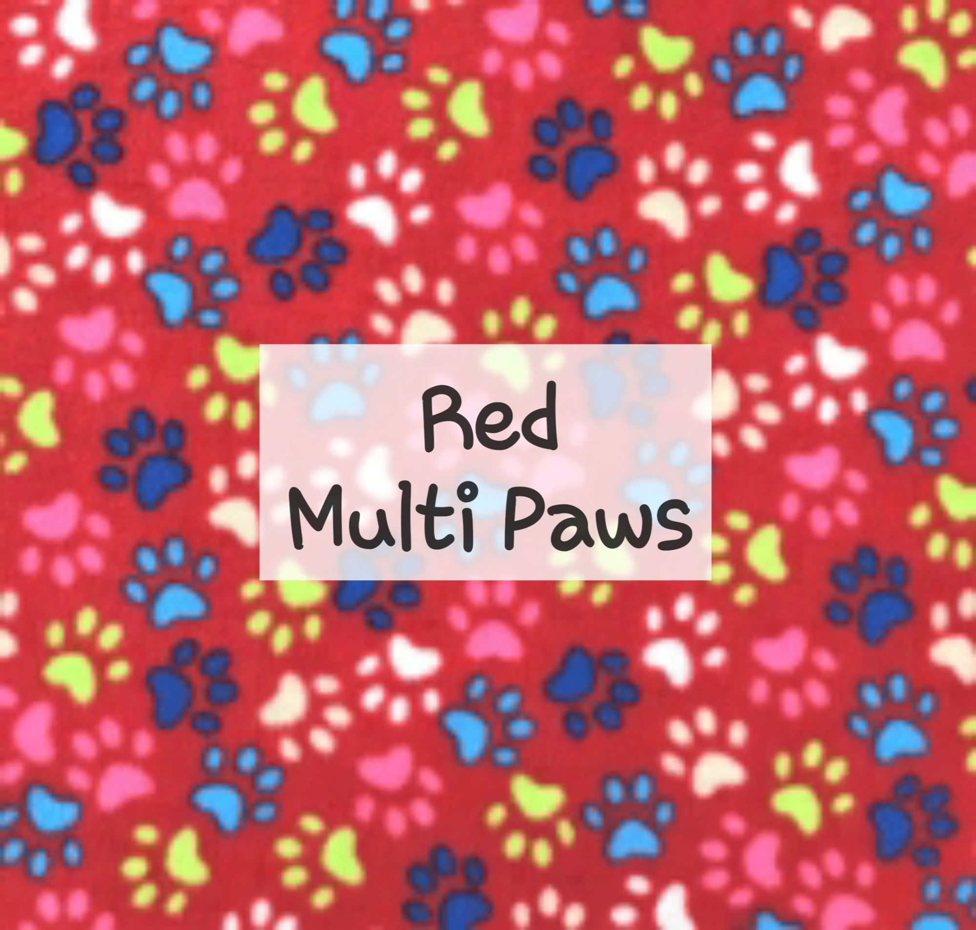Red Multi Paws Fleece