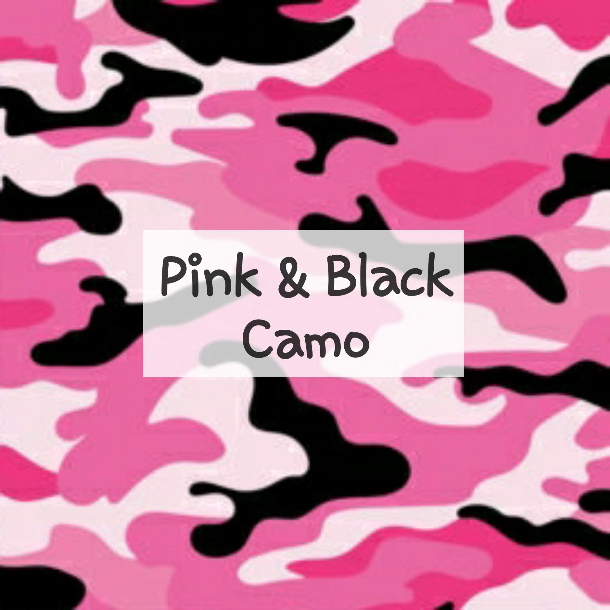 Pink & Black Camo