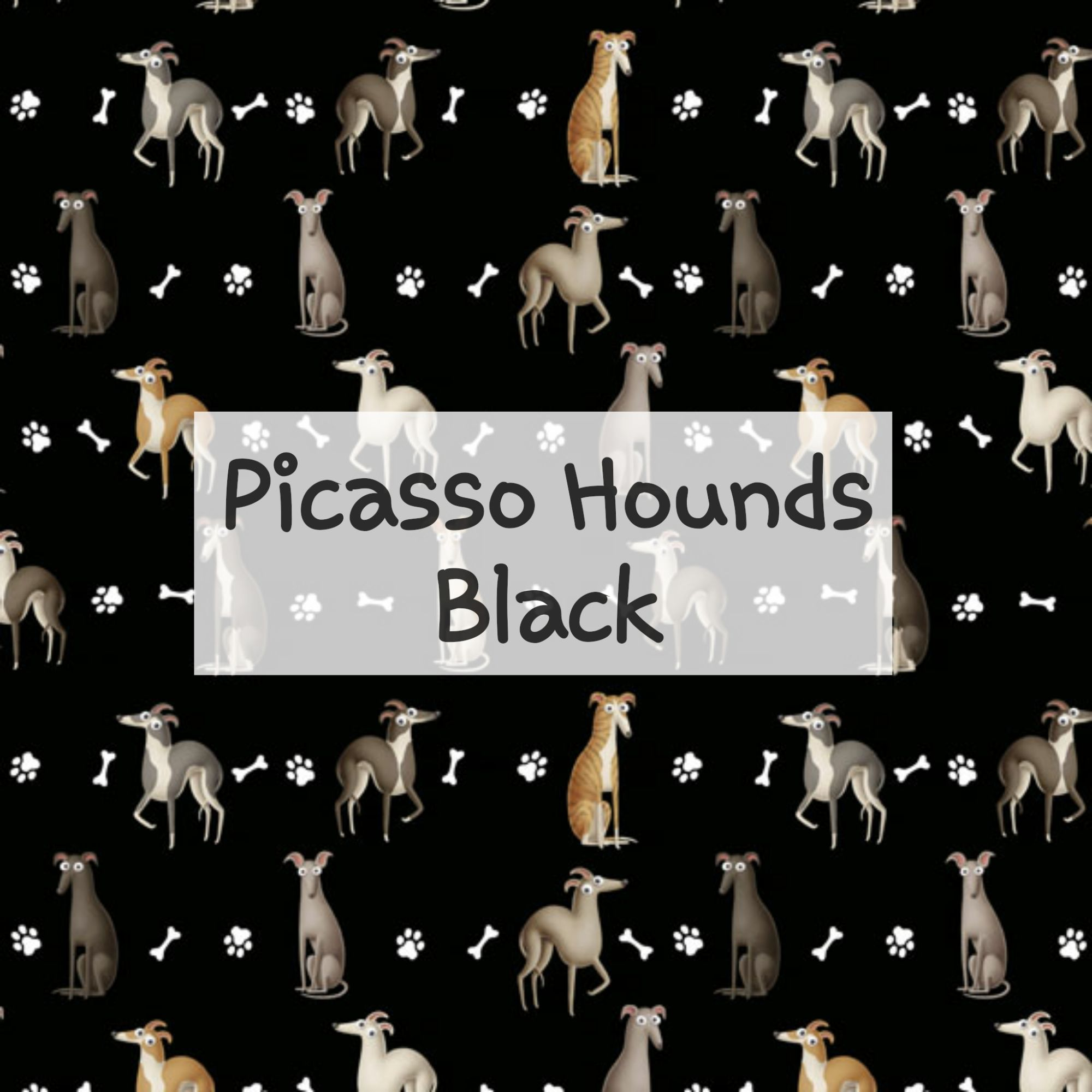 Picasso Hounds Black