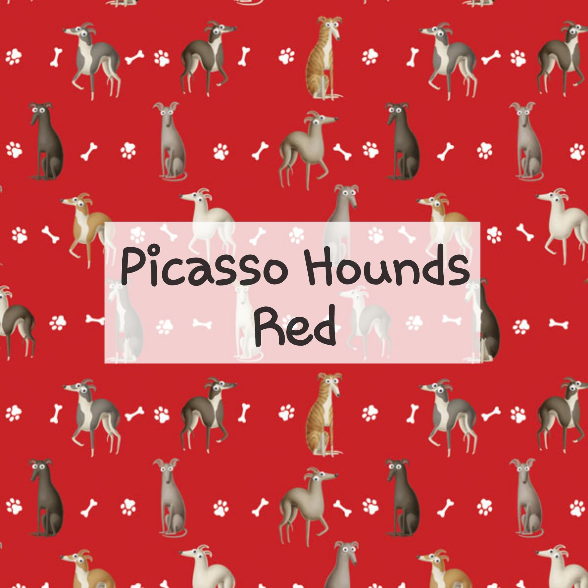 Picasso Hounds Red
