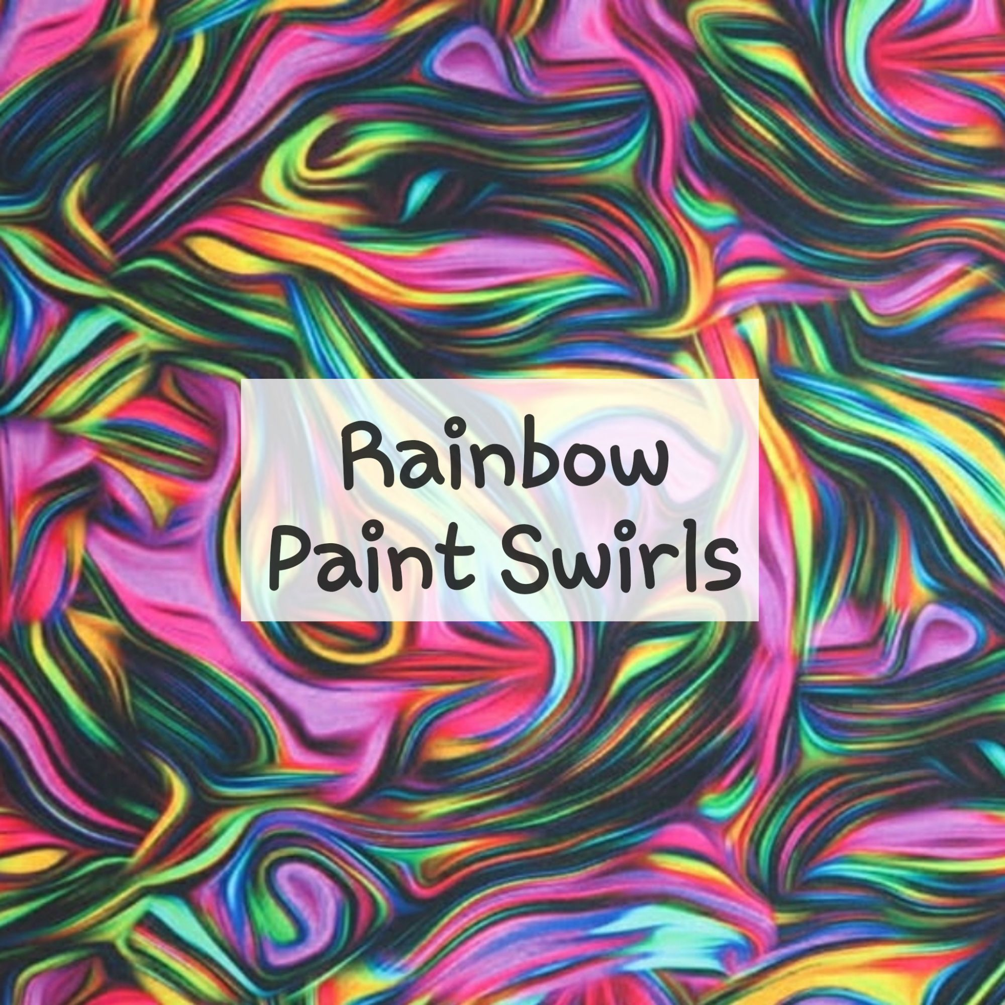 Rainbow Paint Swirls