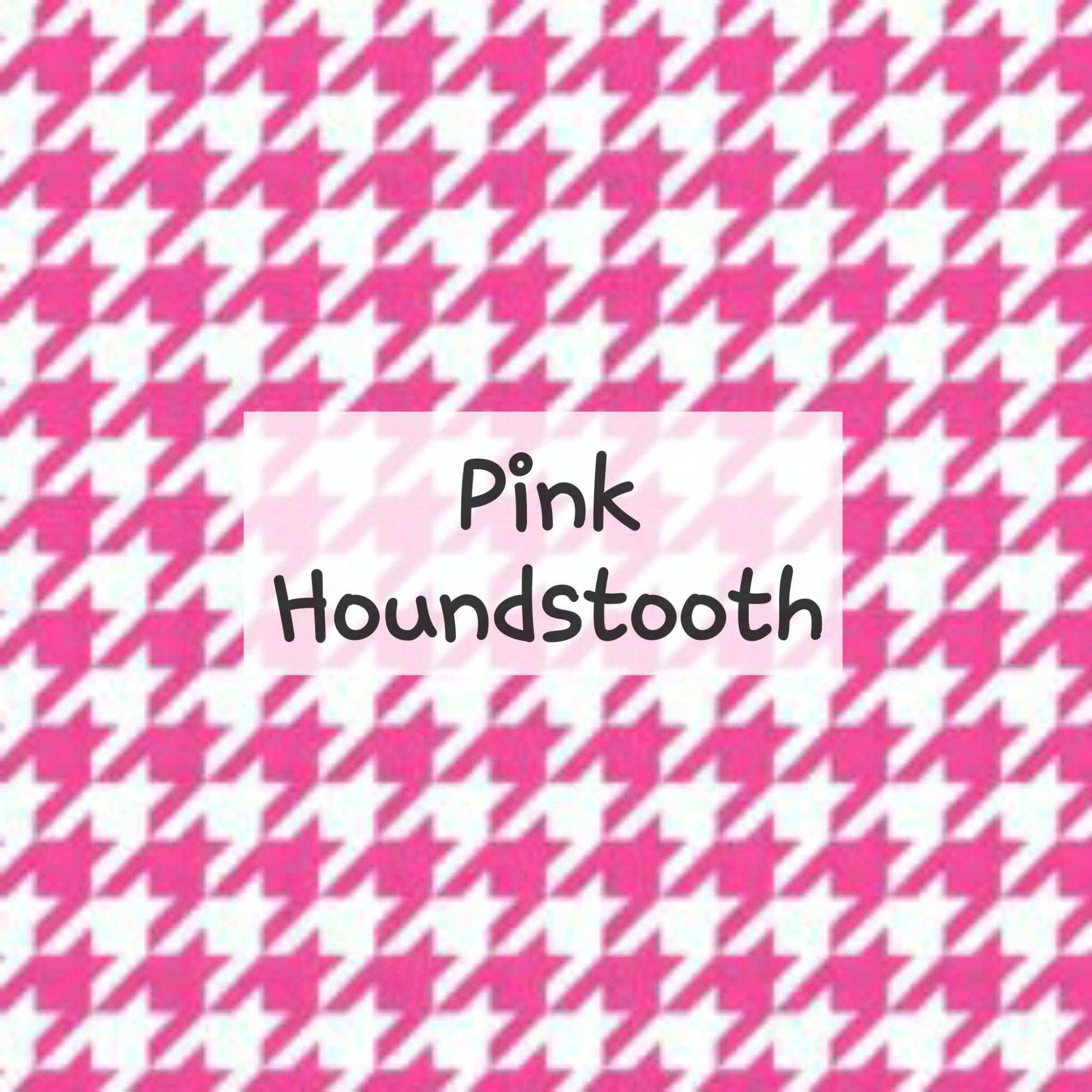 Pink Houndstooth