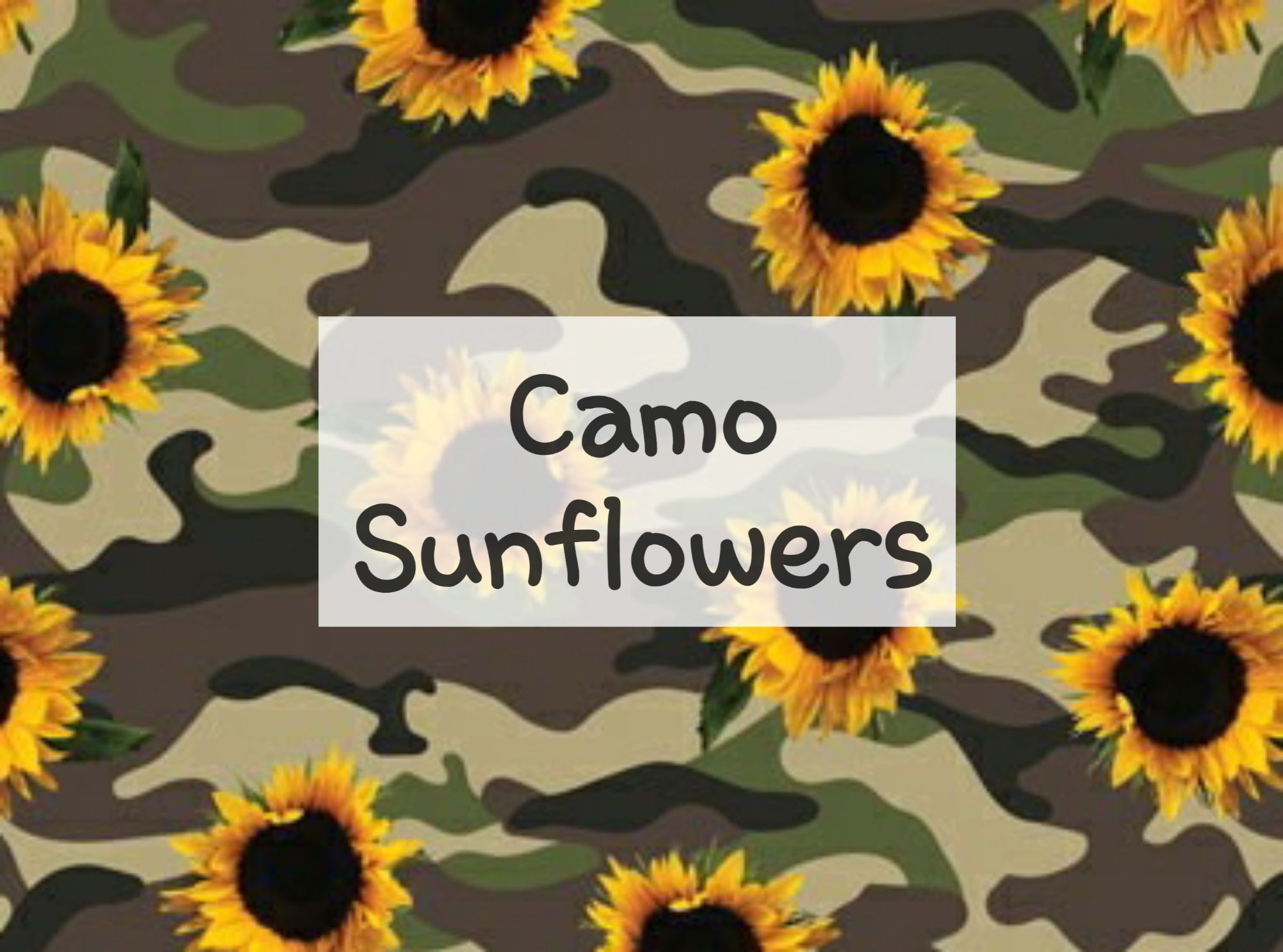 Camo Sunflowers