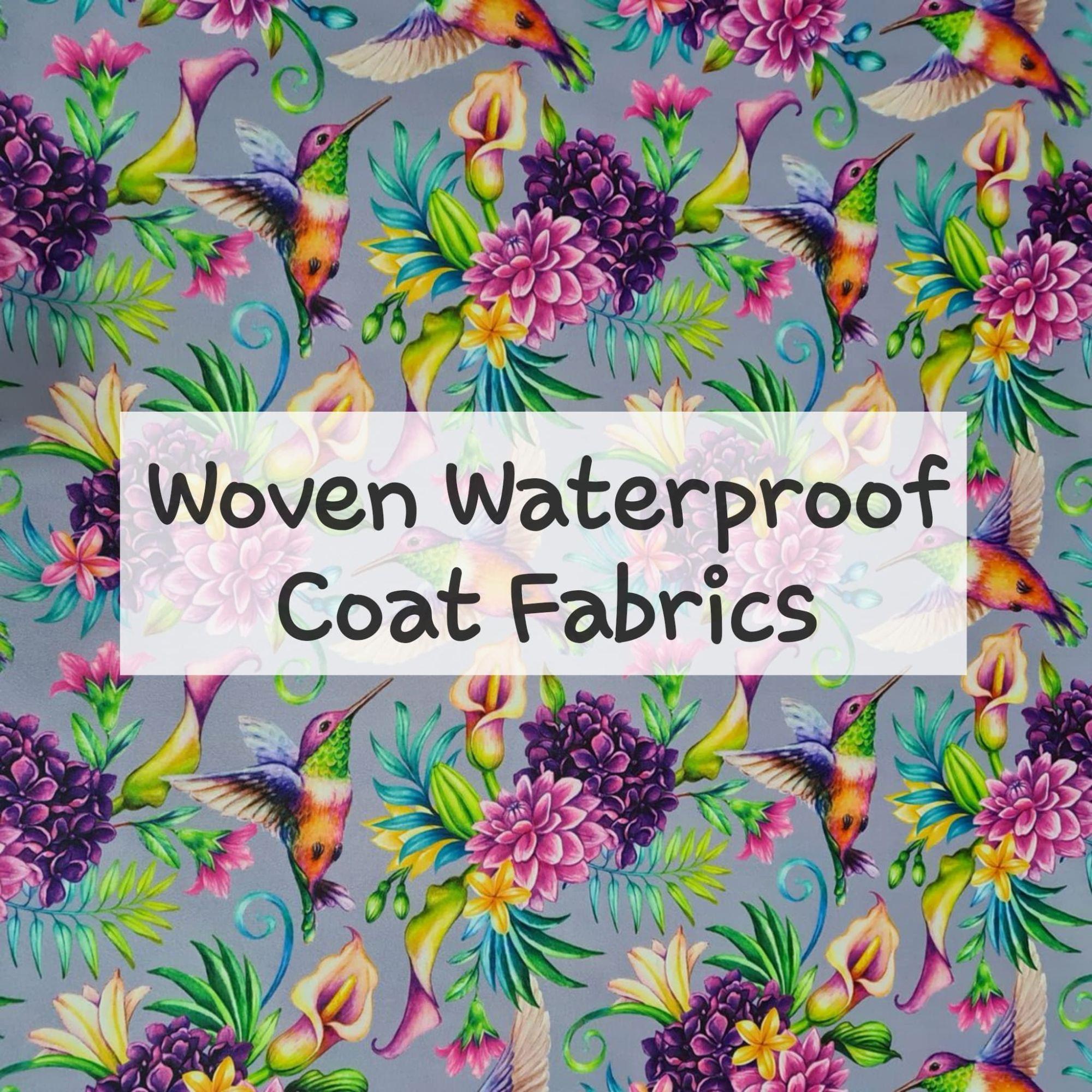 woven waterproof patterened coat fabrics