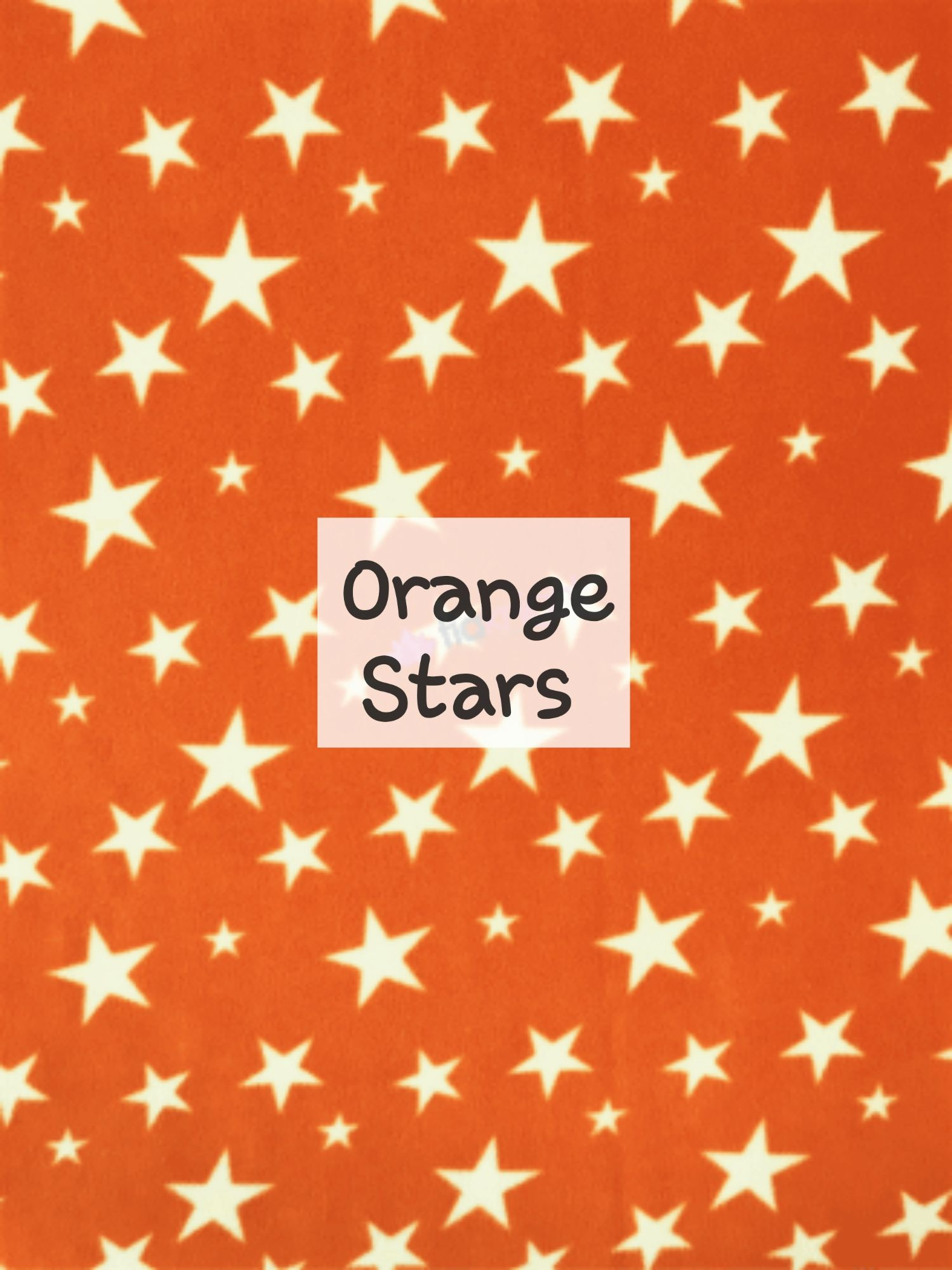 orange Stars fleece