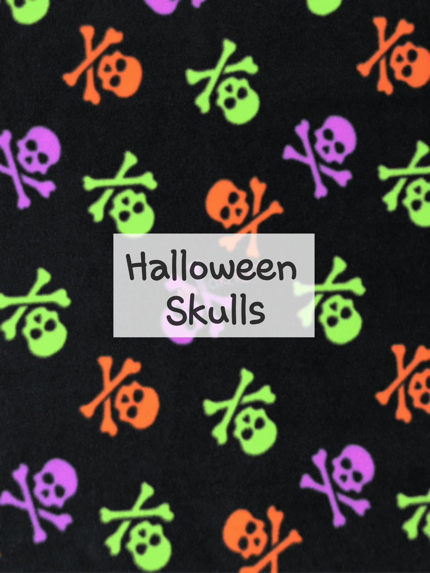 Halloween Skulls fleece