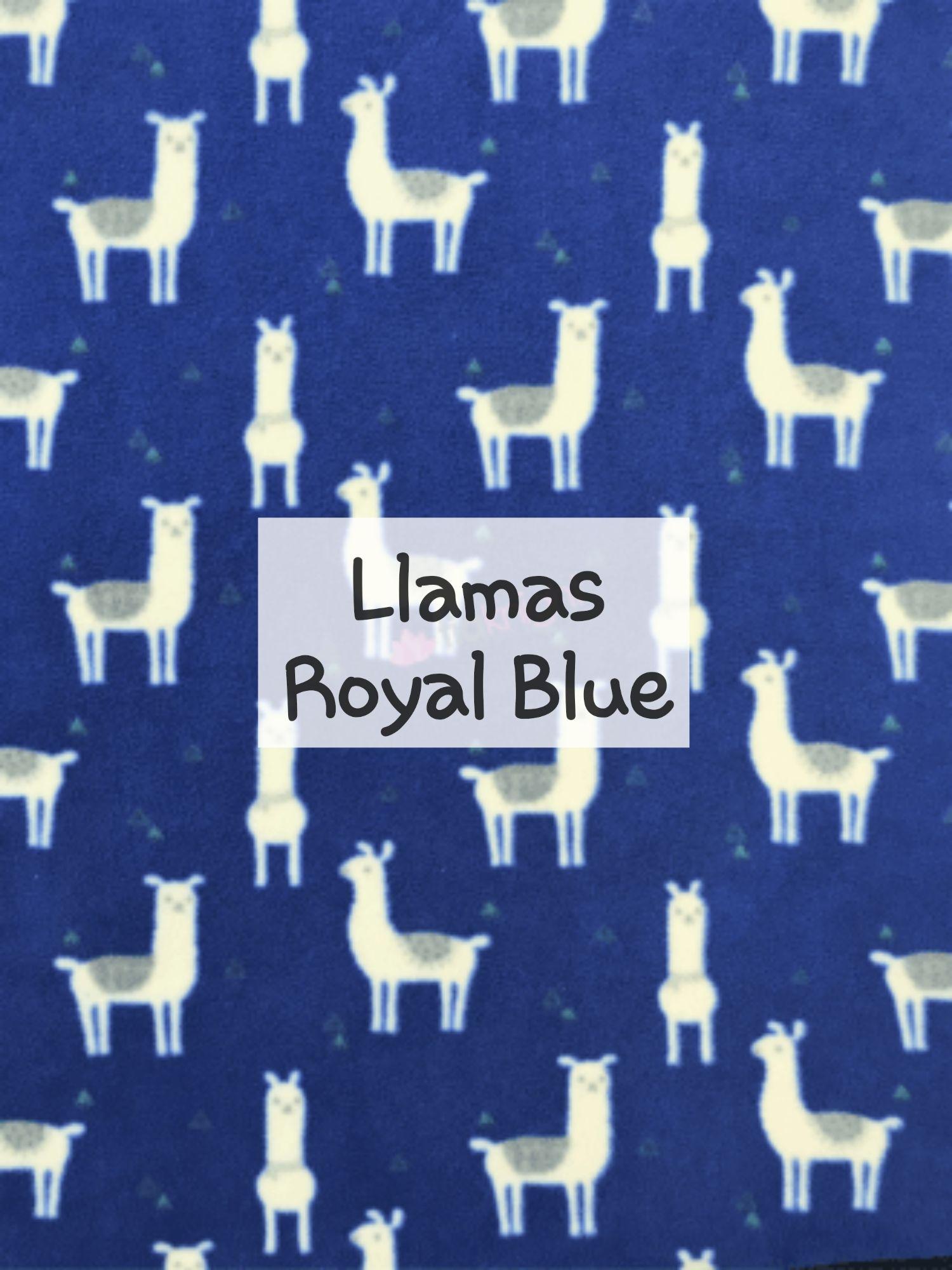 Llamas Royal Blue fleece