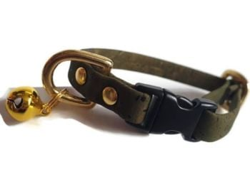 Dark Green Cork Cat Collar