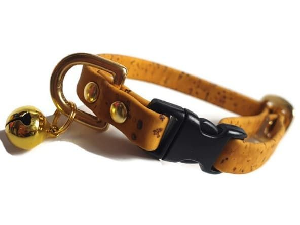 Mustard Yellow Cork Cat Collar