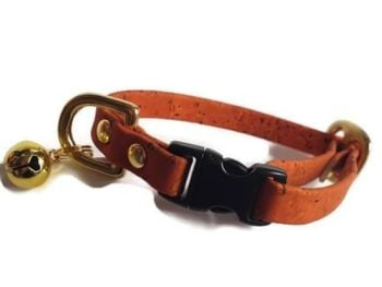 Orange Cork Cat Collar