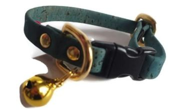 Jade Cork Cat Collar