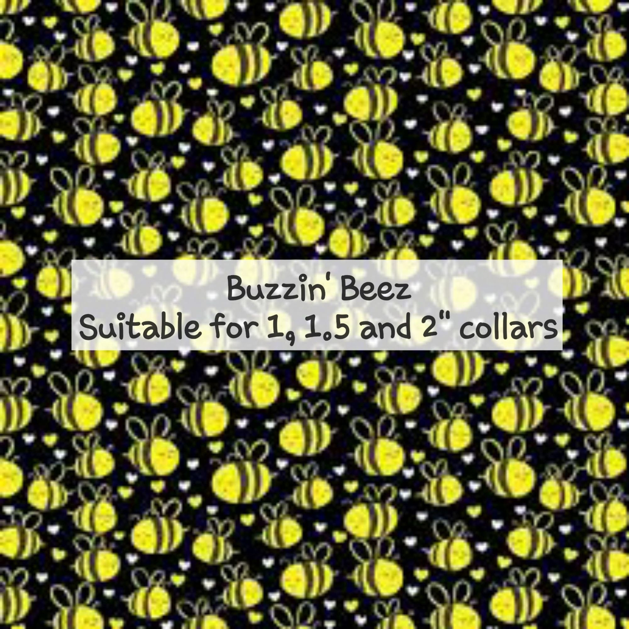 Buzzin' Beez - Suitable for 1, 1.5 and 2 inch collars