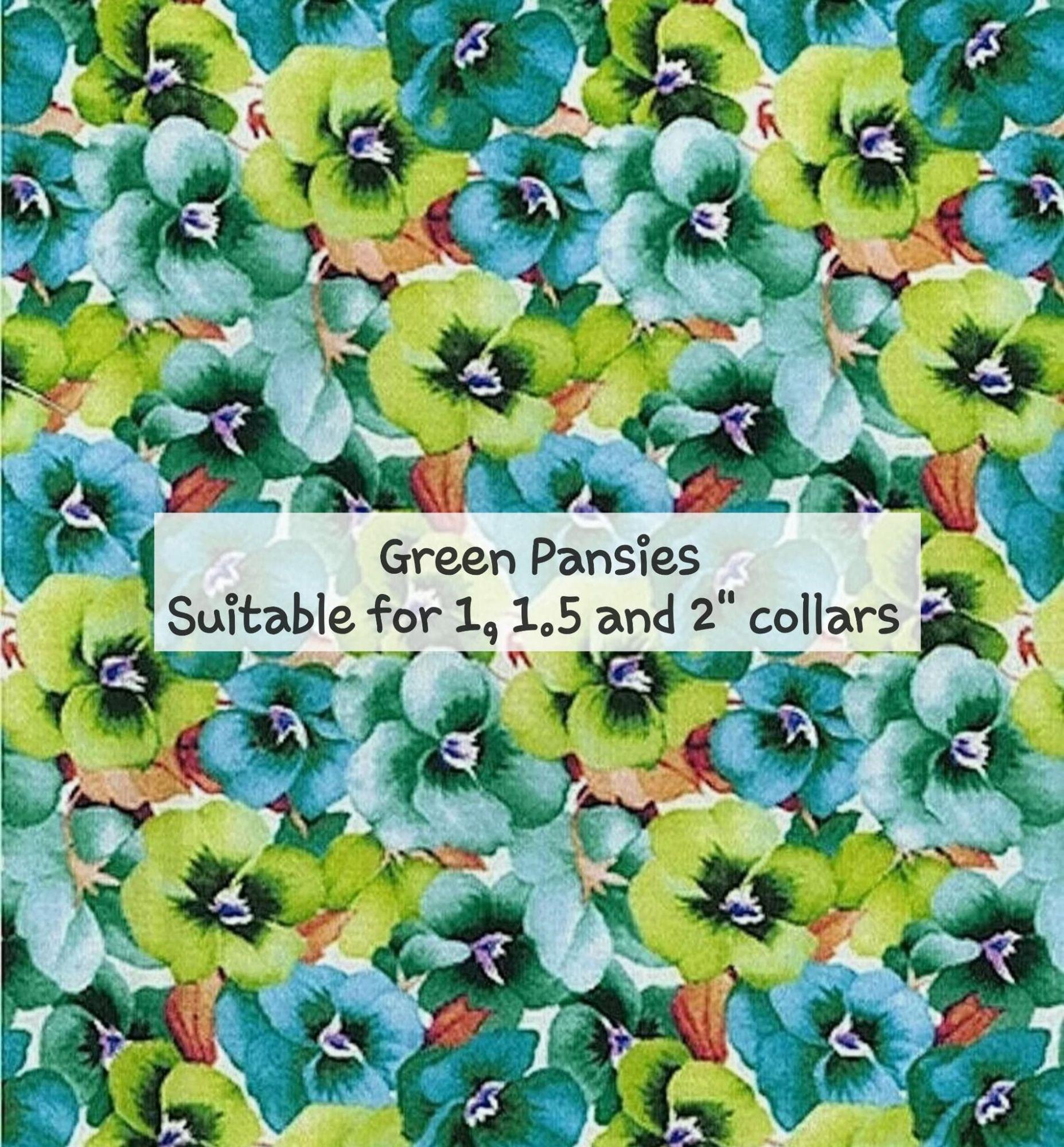 Green Pansies