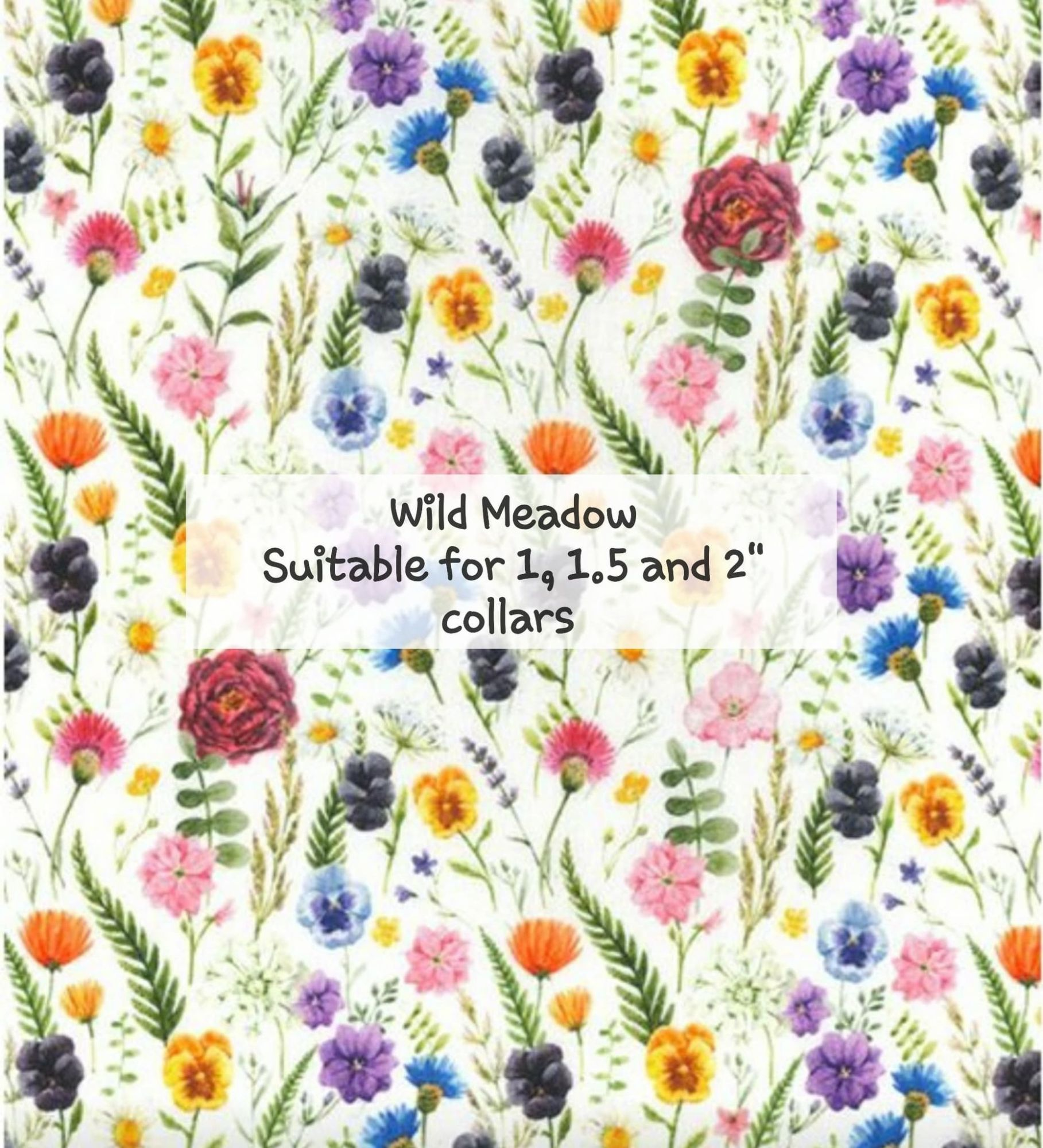 Wild Meadow - Suitable for 1, 1.5 and 2 inch collars