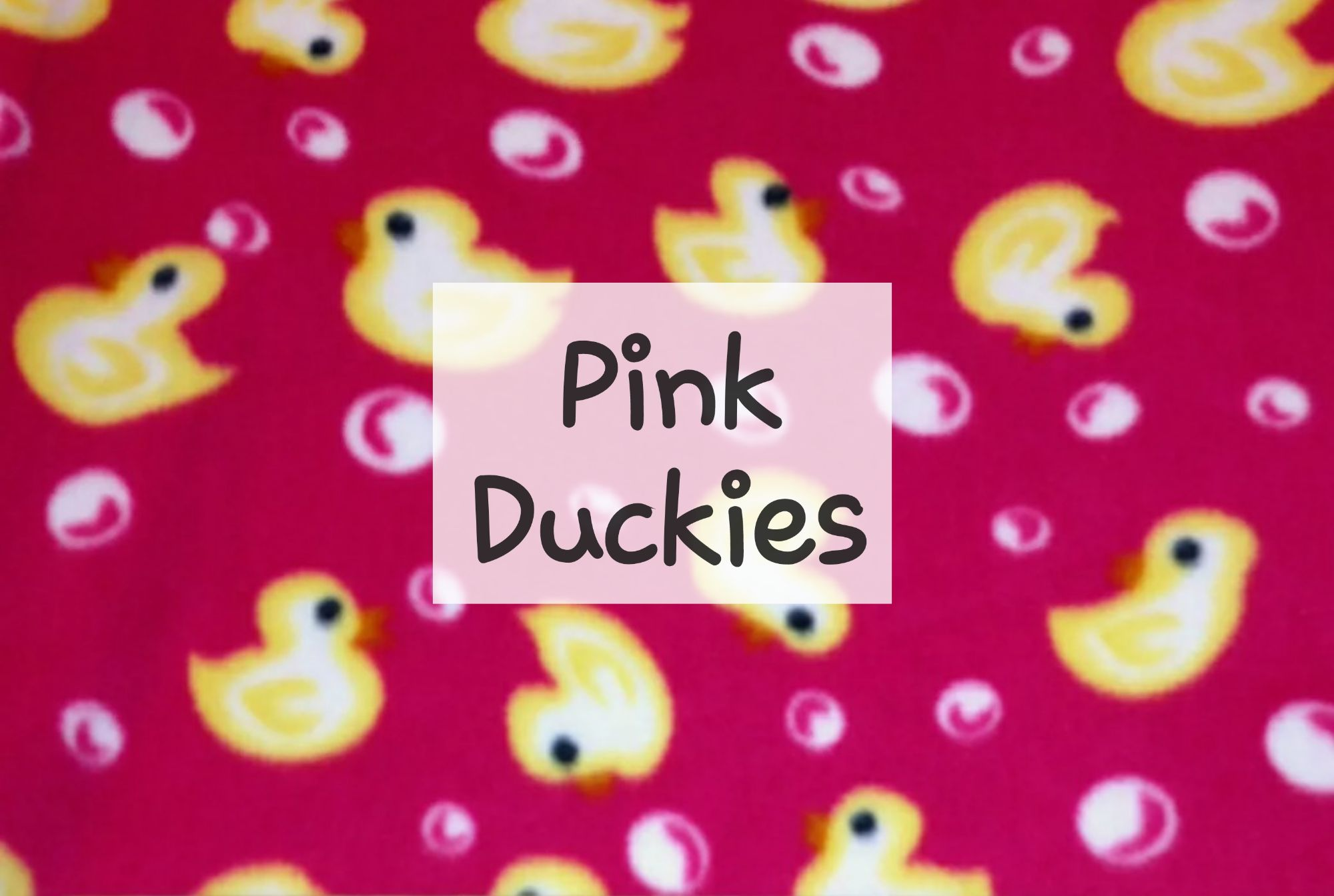 Pink Duckies Fleece