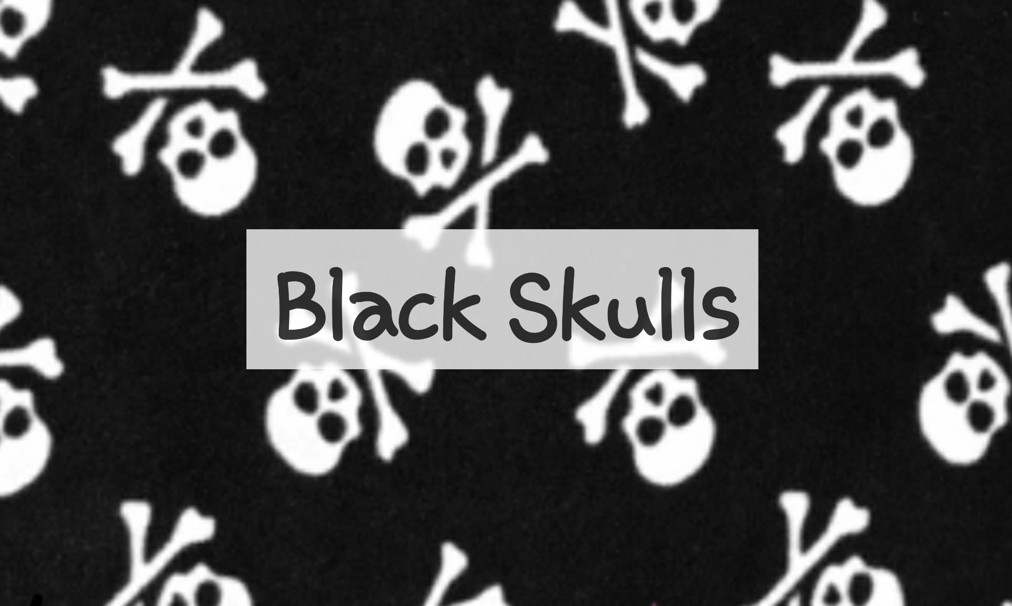 Black Skulls Fleece