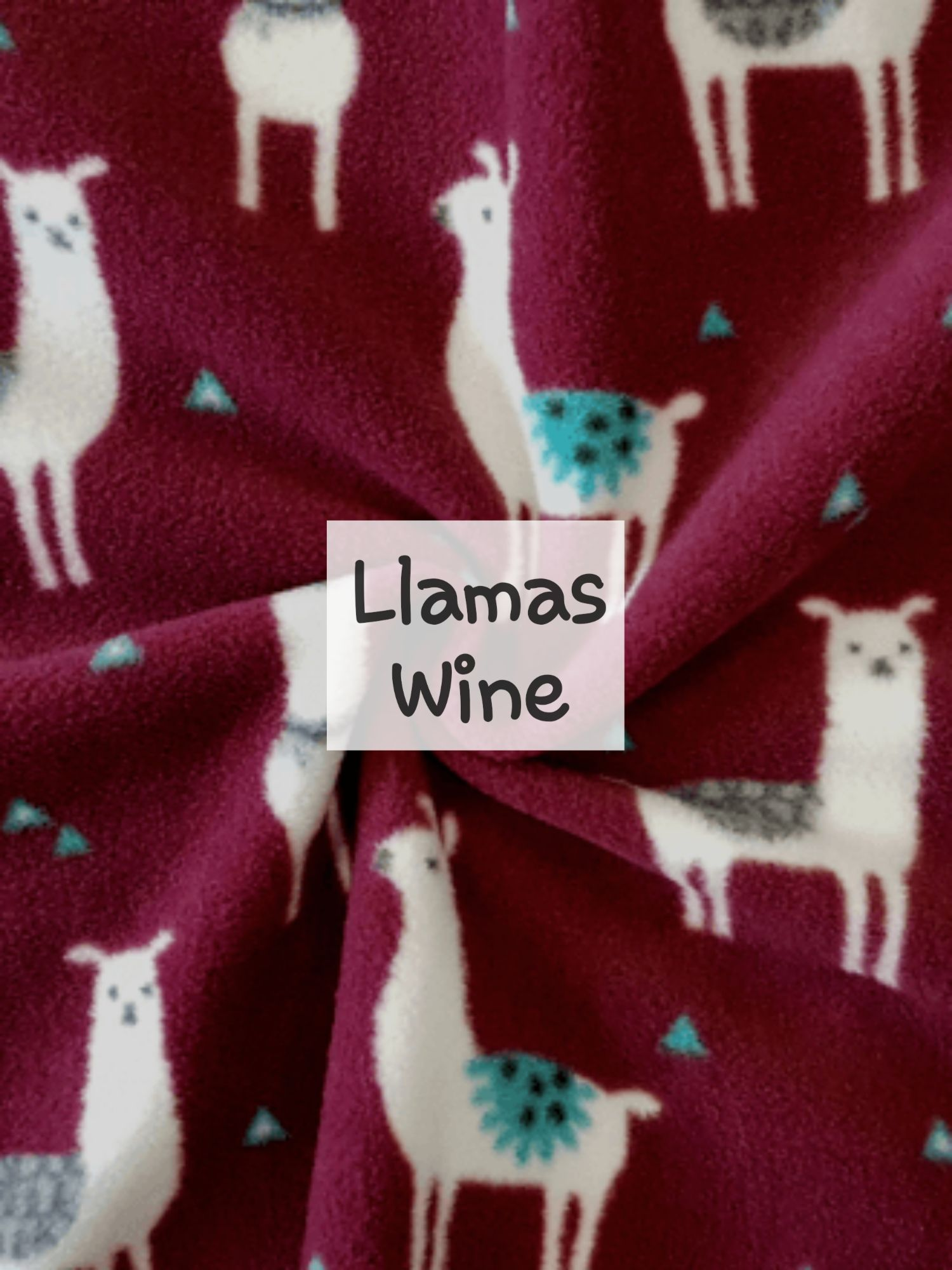 Llamas Wine Fleece