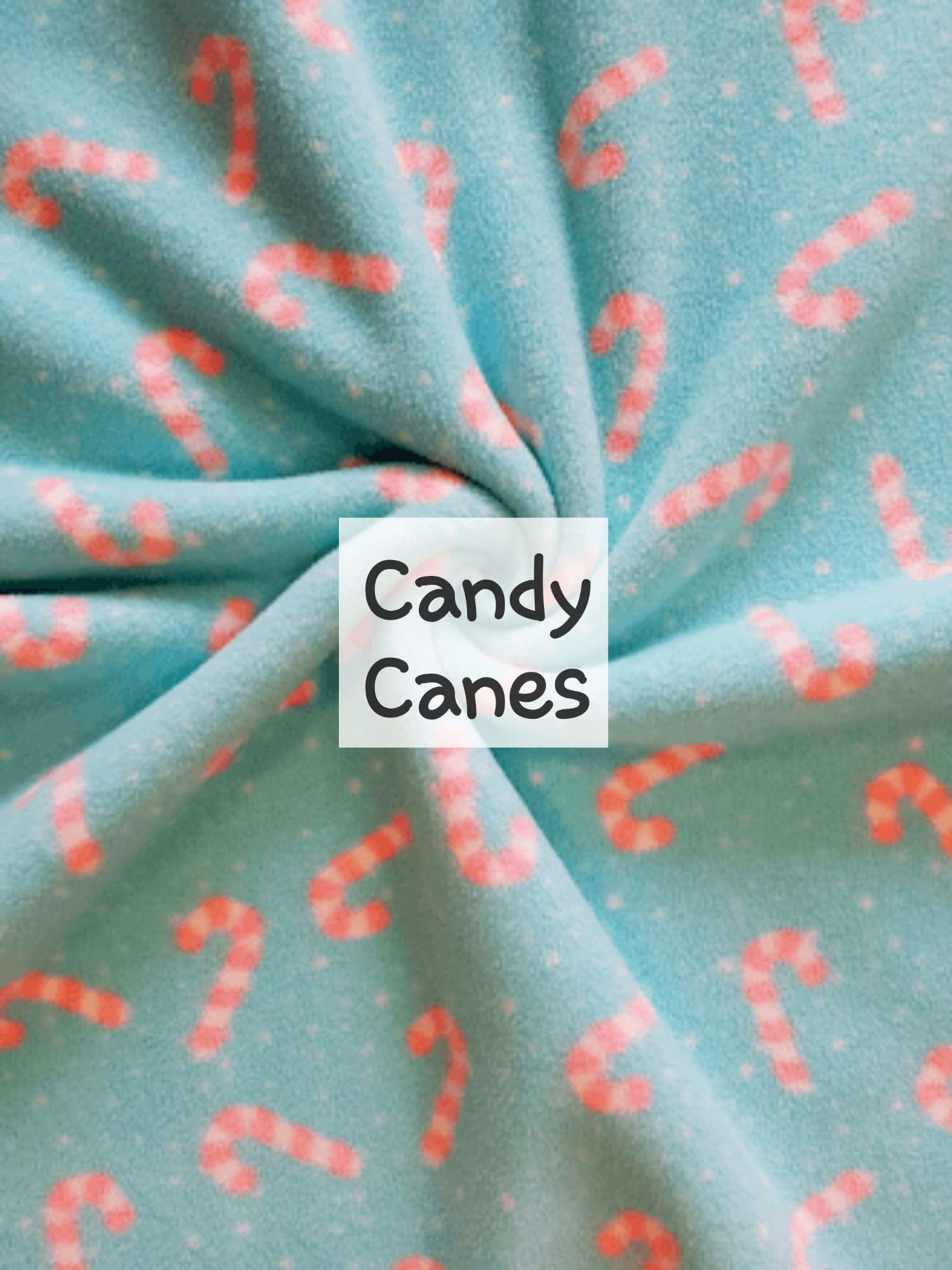 Candy Canes Fleece