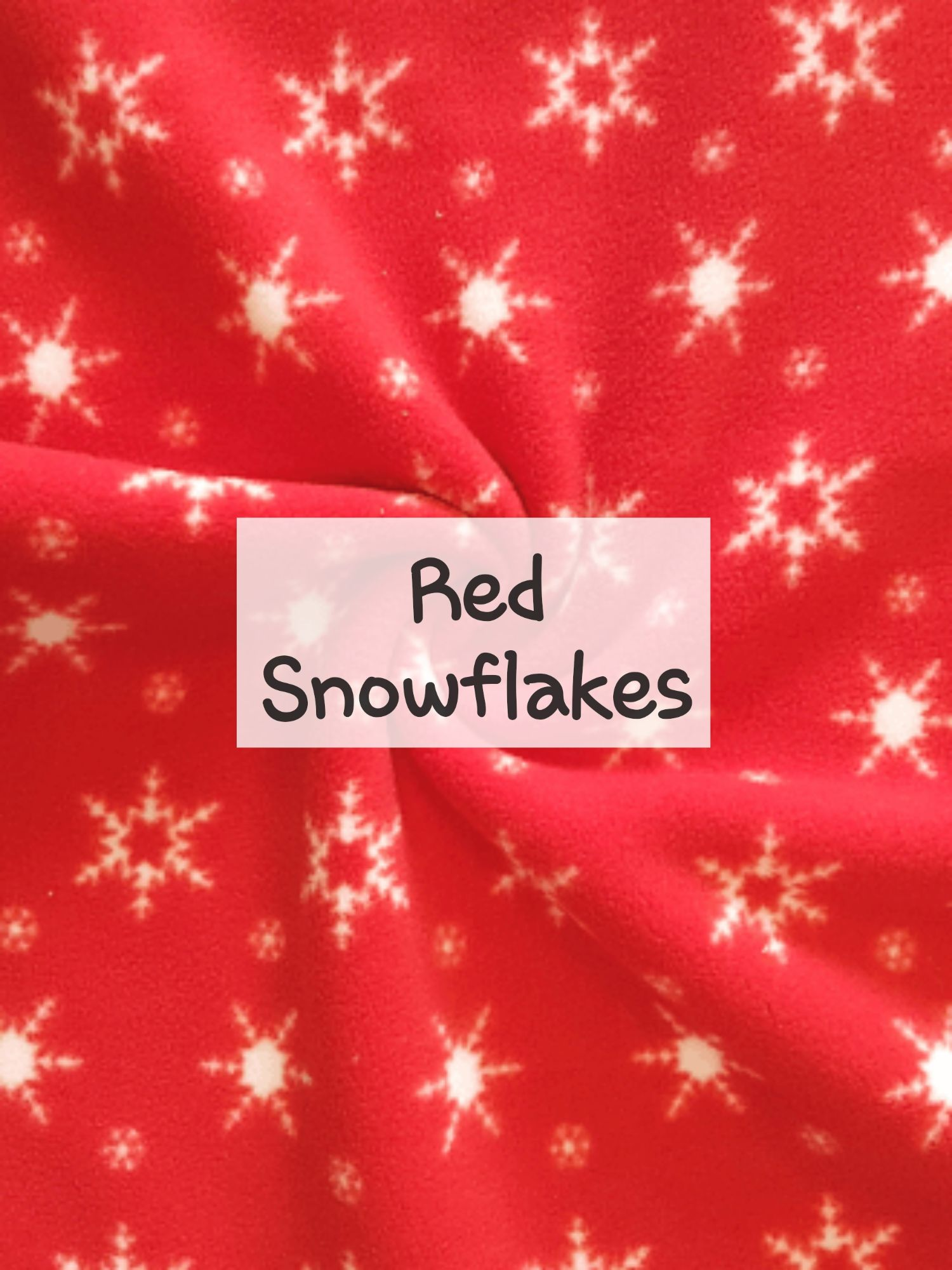 Red Snowflakes fleece