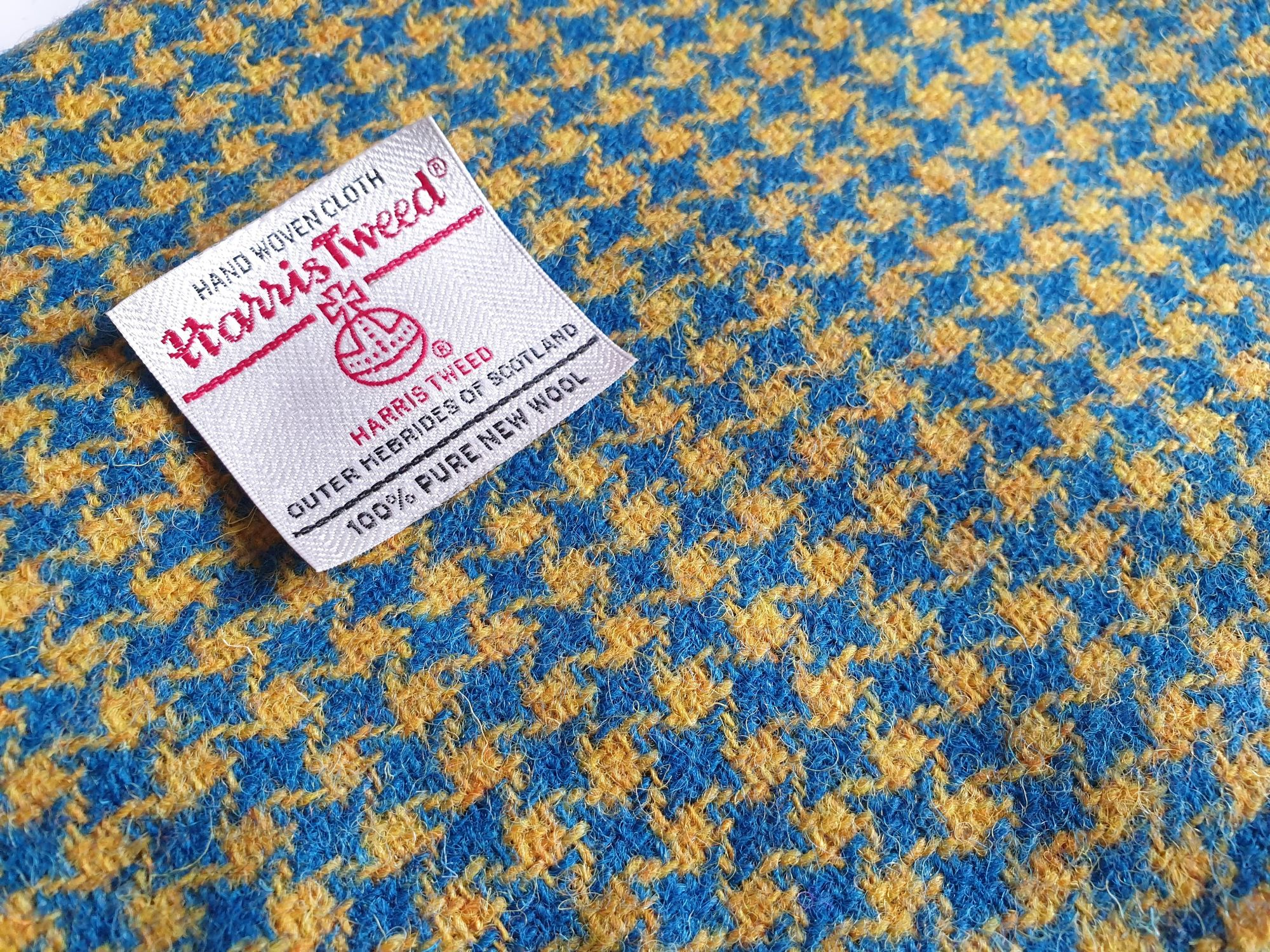 Blue and Yellow Houndstooth