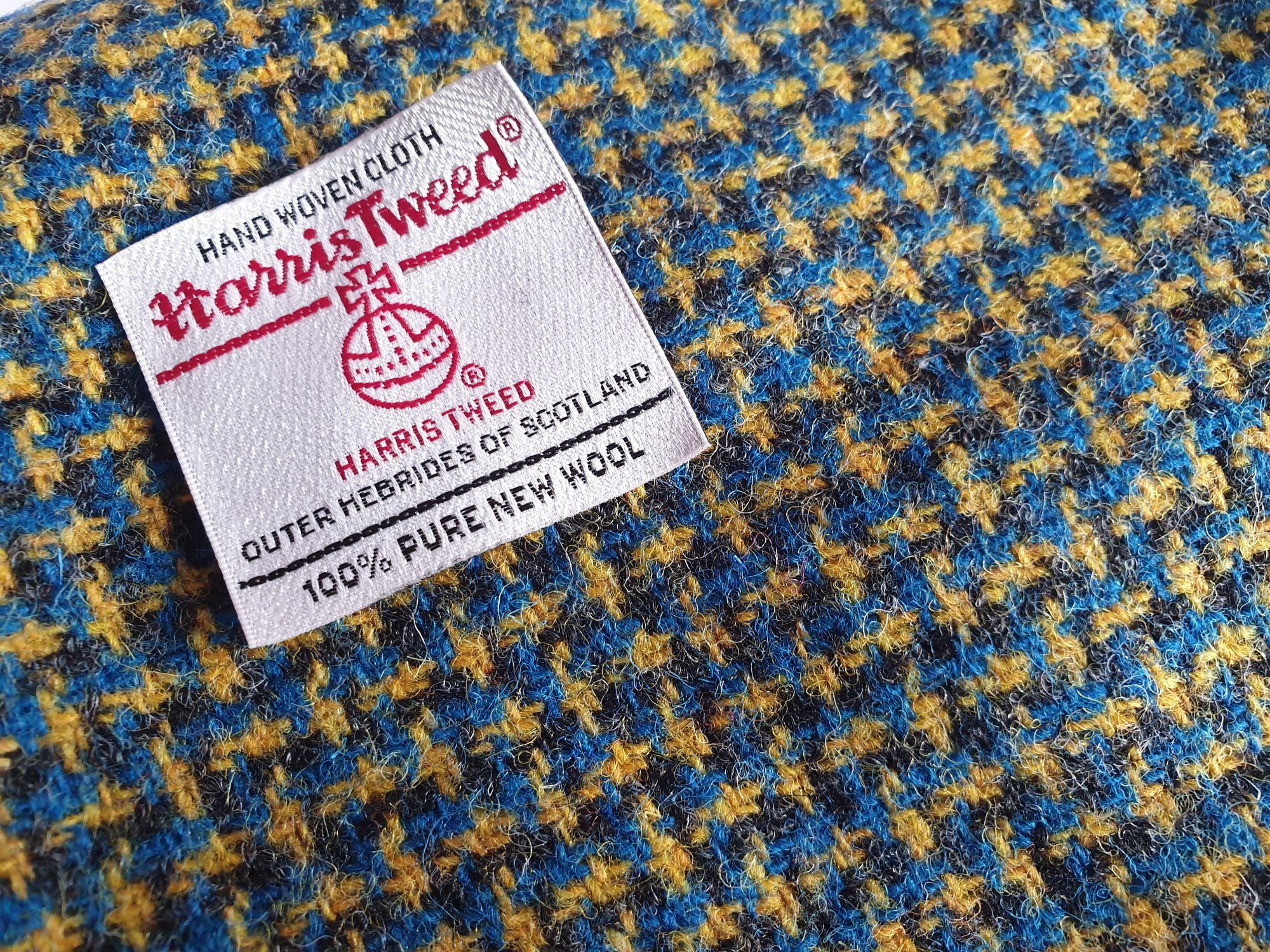 Blue, Black and Yellow Crosshatch