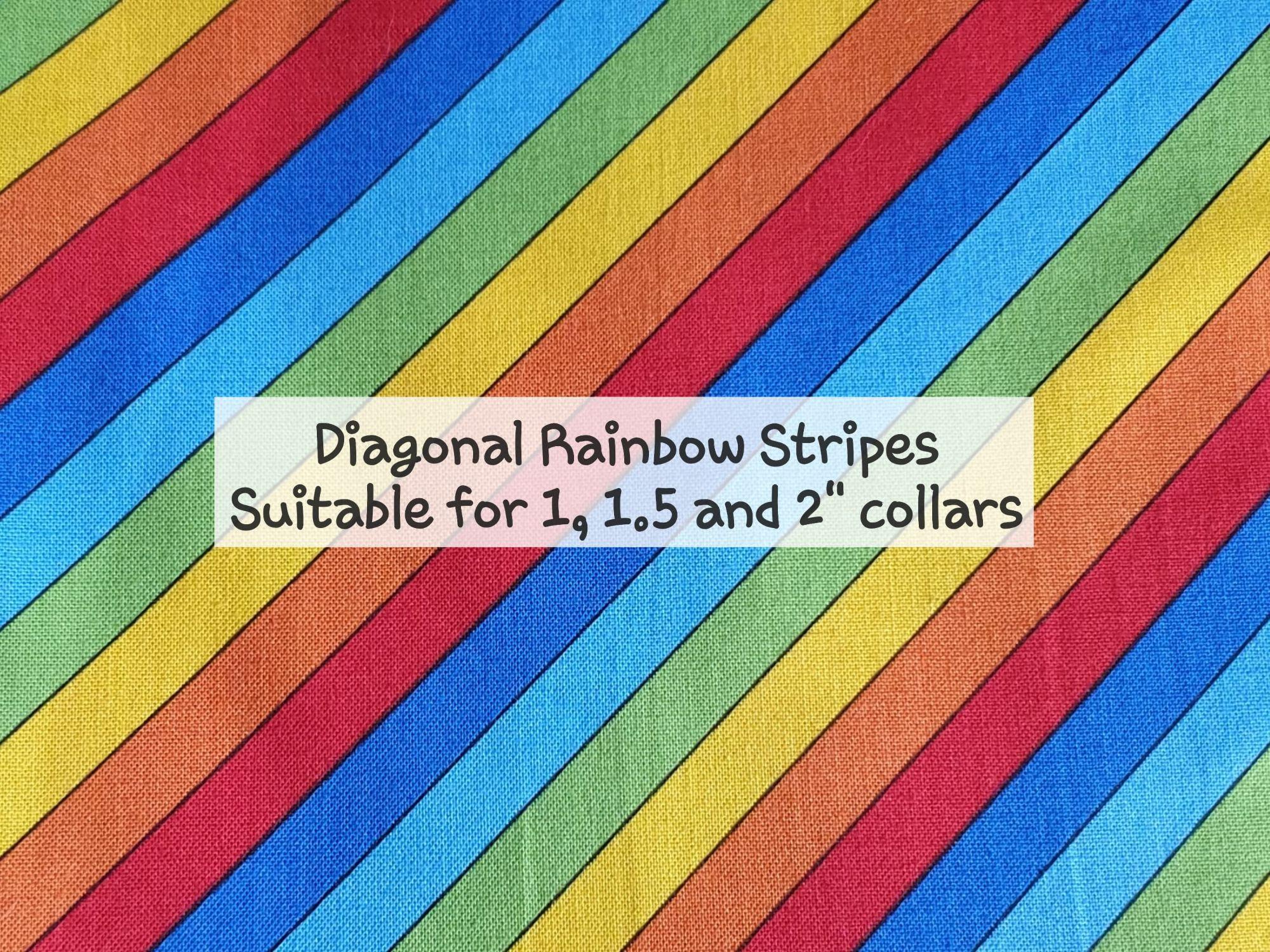 Diagonal Rainbow Stripes