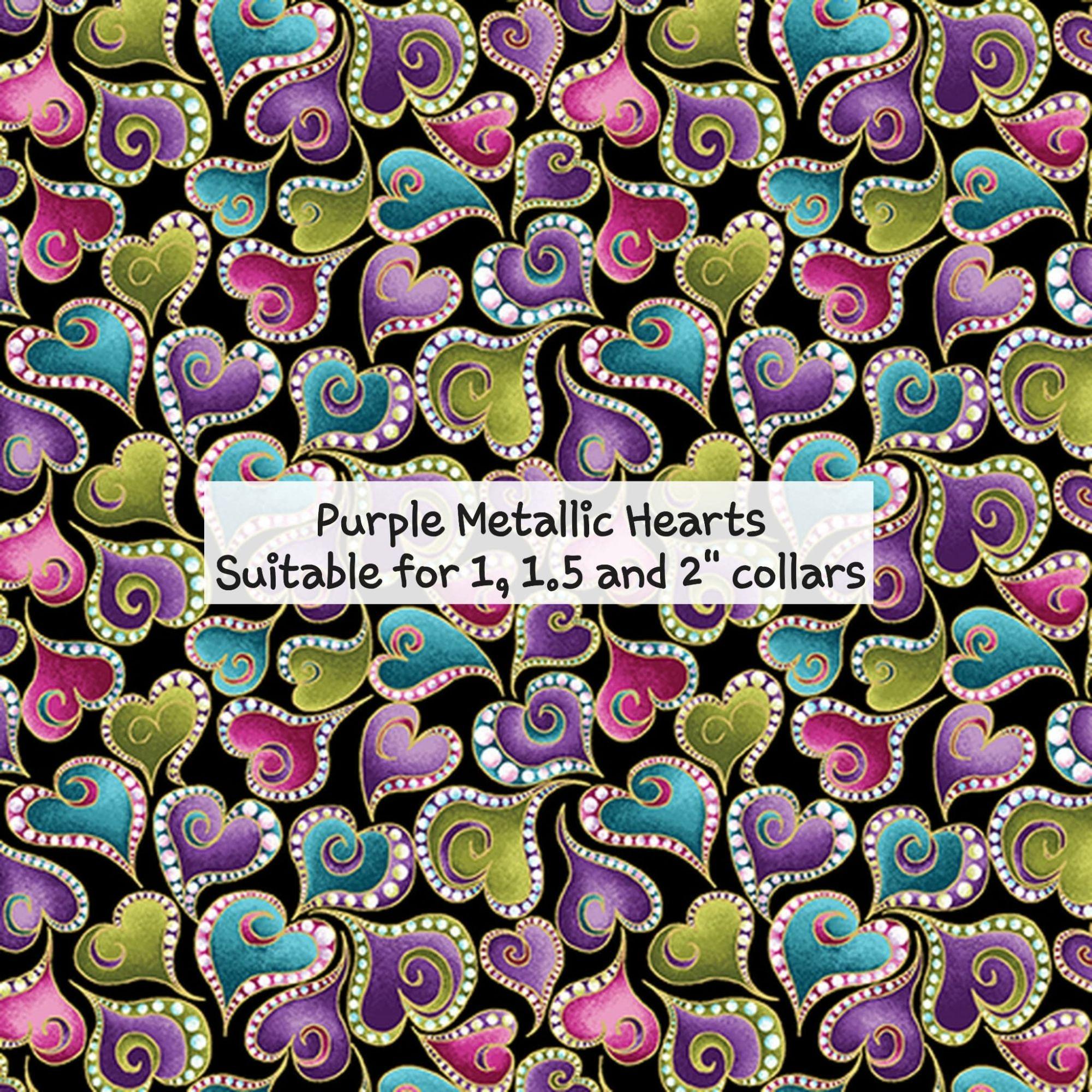 Purple Metallic Hearts