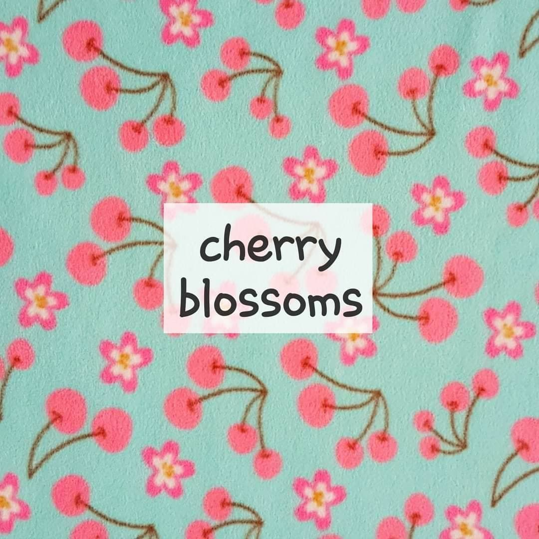 cherry blossoms fleece