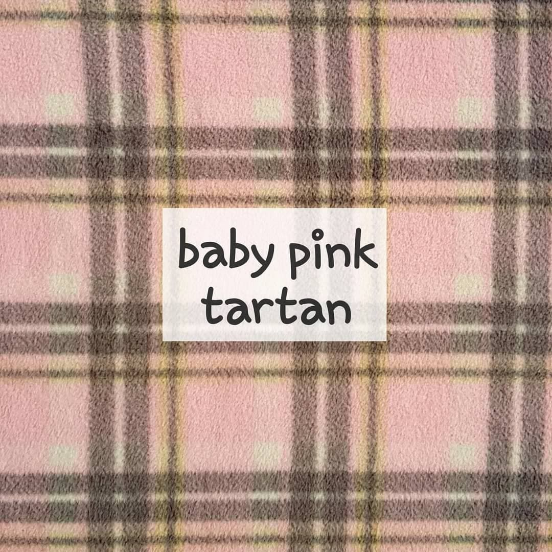 baby pink tartan fleece
