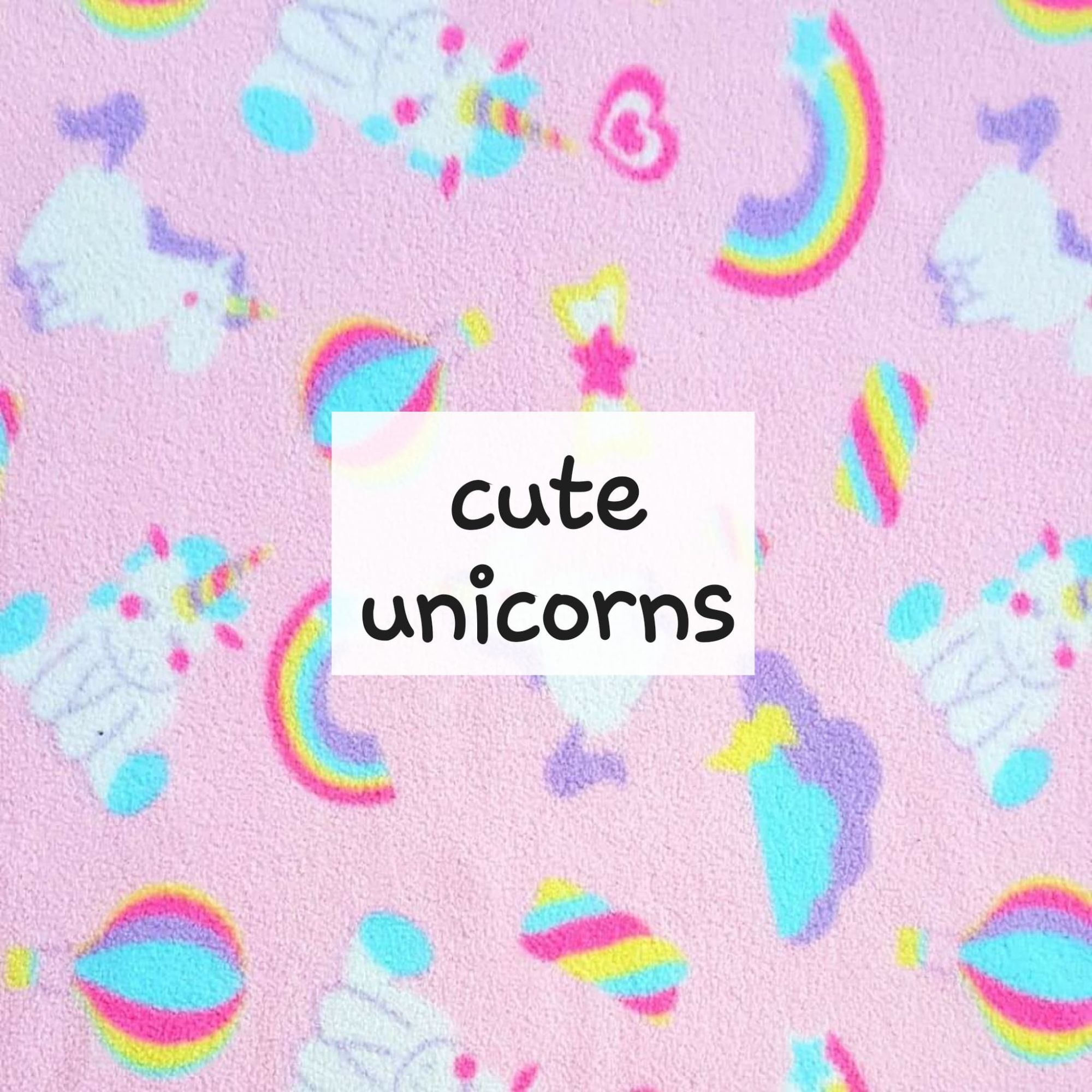 cute unicorns fleece